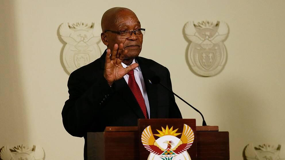 Sydafrikas president Jacob Zuma avgår
