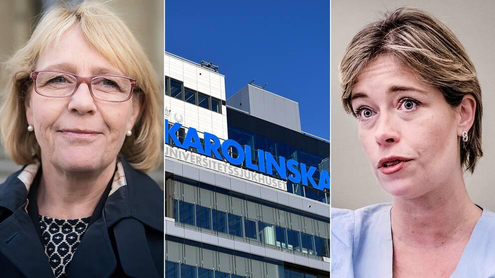 Irene Svenonius(M), finanslandstingsråd i Stockholm, socialminister Annika Strandhäll (S)