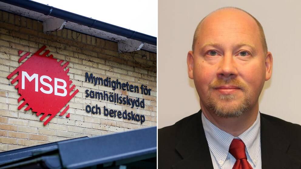 Fredrik Konnander, verksamhetsansvarig på Myndigheten för samhällsskydd och beredskap.