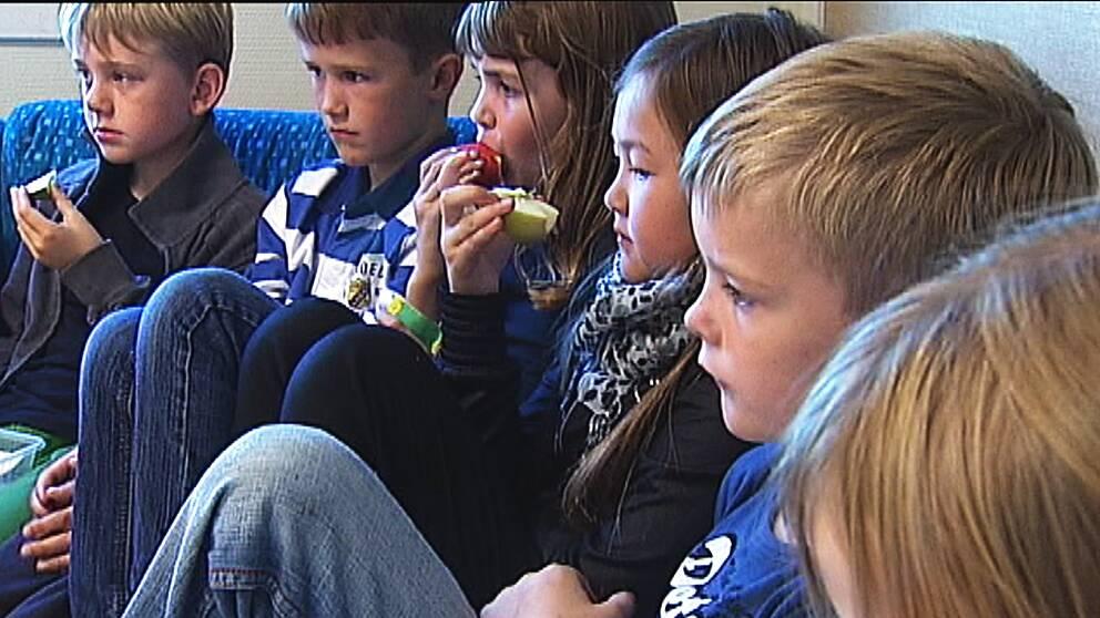 Många skolor kräver att eleverna själva ska ta med sig frukt.