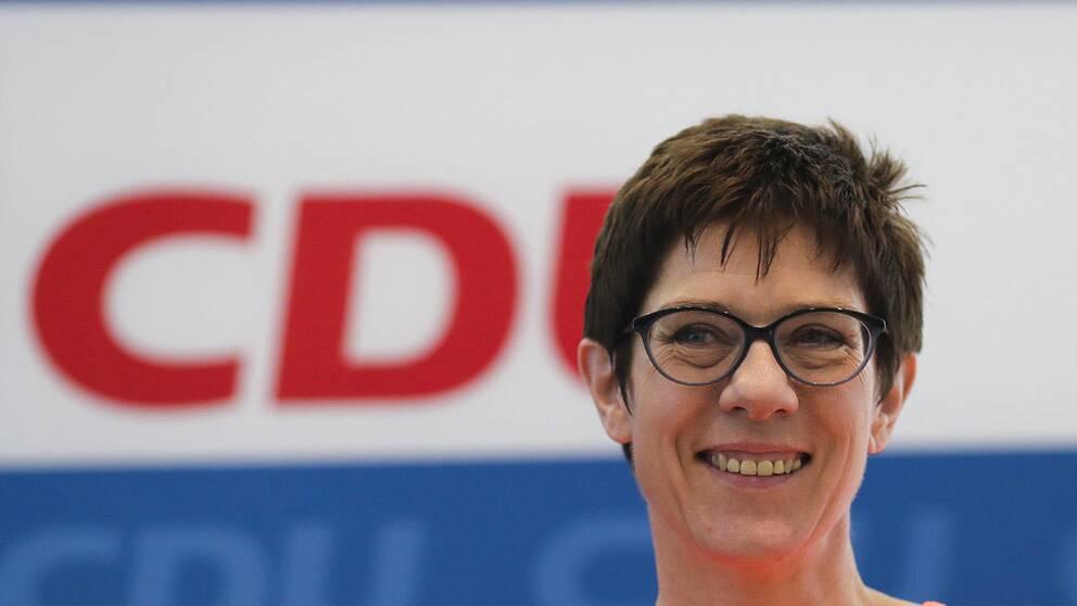Annegret Kramp-Karrenbauer får ny toppost inom det kristdemokratiska partiet CDU.
