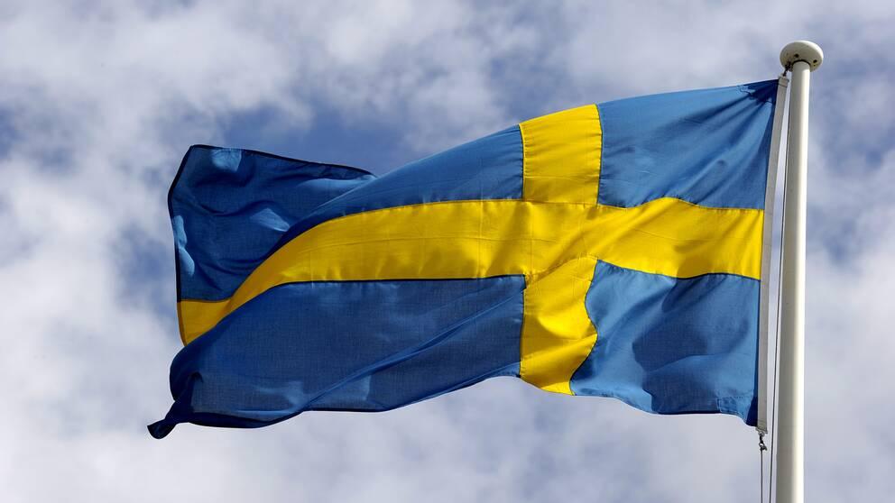 Svenska flaggan.