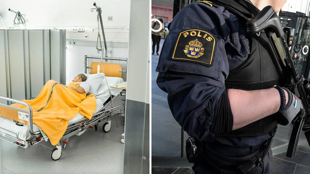 Sjukvården och polisen – två områden i behov av omfattande ekonomiska satsningar.