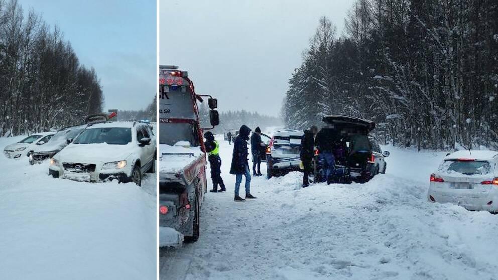 Olycka pa e4 flera fordon inblandade