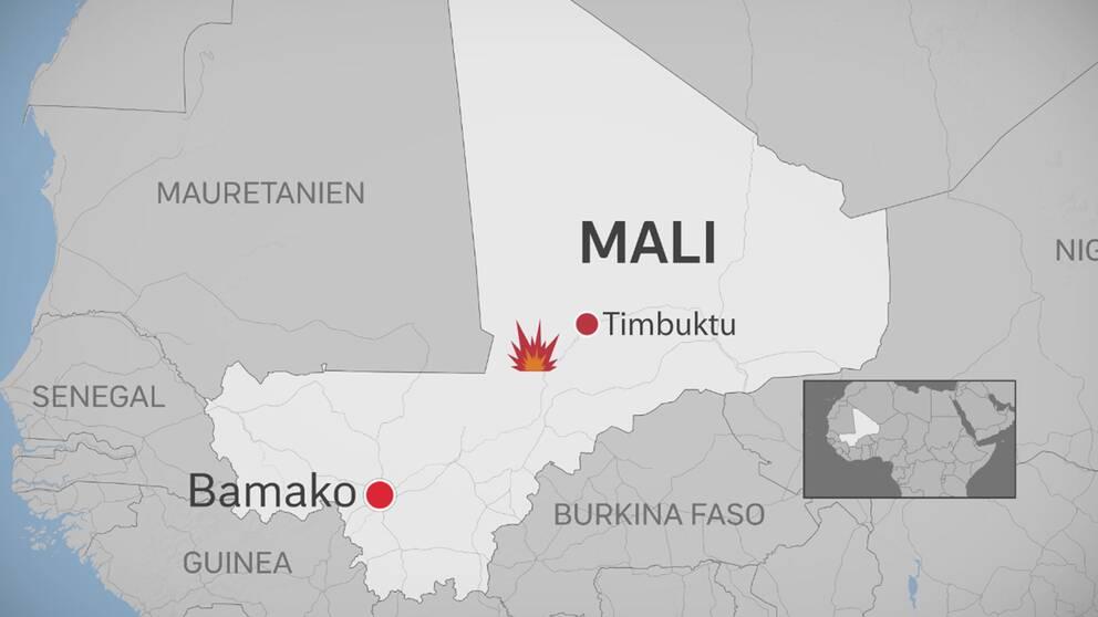 Karta över Mali.