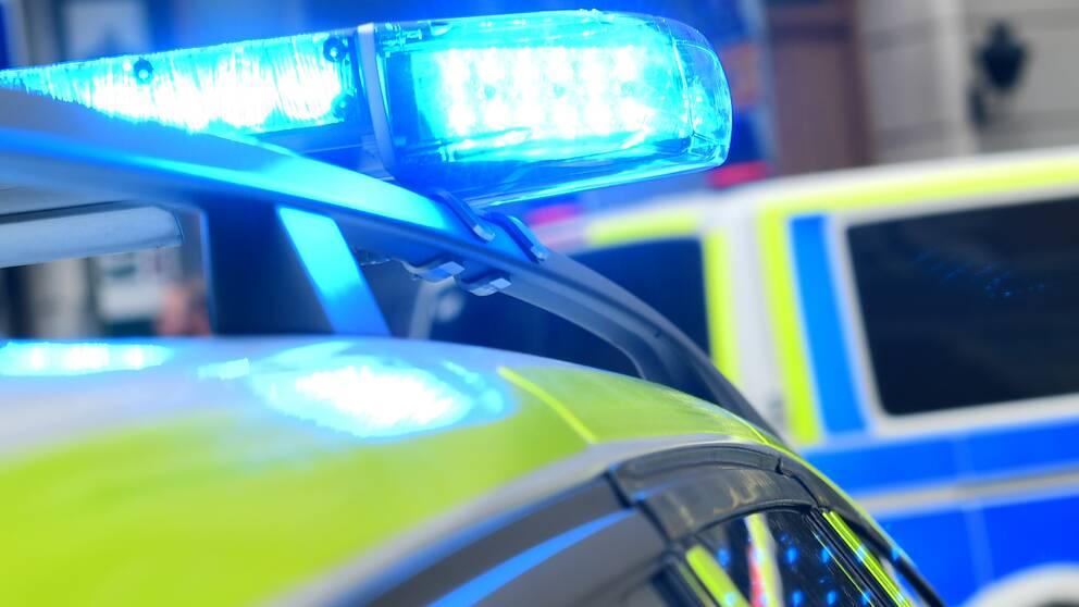 Blåljus på en polisbild