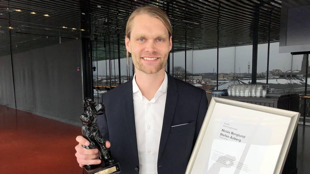 SVT:s Mellanösternfotograf Niclas Berglund kammade hem förstapriset i kategorin multimedia.