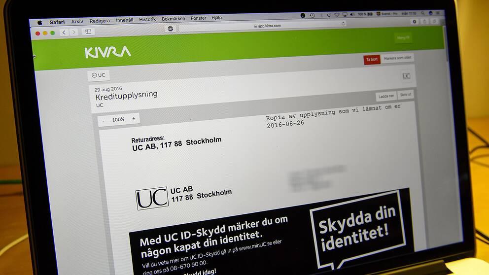Kivra är en av de fyra svenska aktörer som tillhandahåller digitala brevlådor.