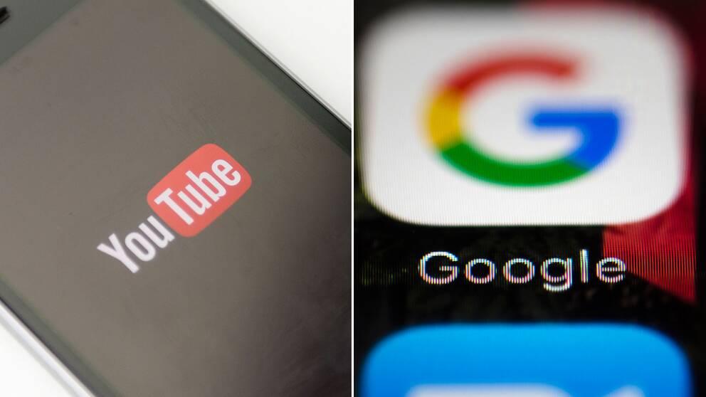 Google- och Youtubelogga.