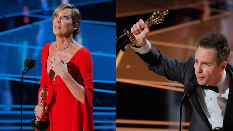 Allison Janney vann Bästa kvinnliga biroll och Sam Rockwell kammade hem Bästa manliga biroll under Oscarsgalan.