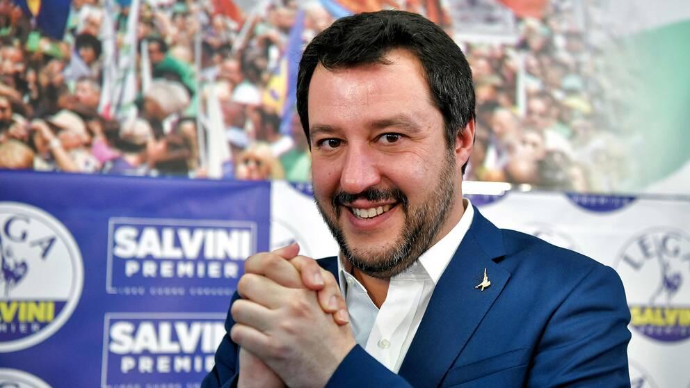 Matteo Salvini, det italienska främlingsfientliga Legas partiledare.