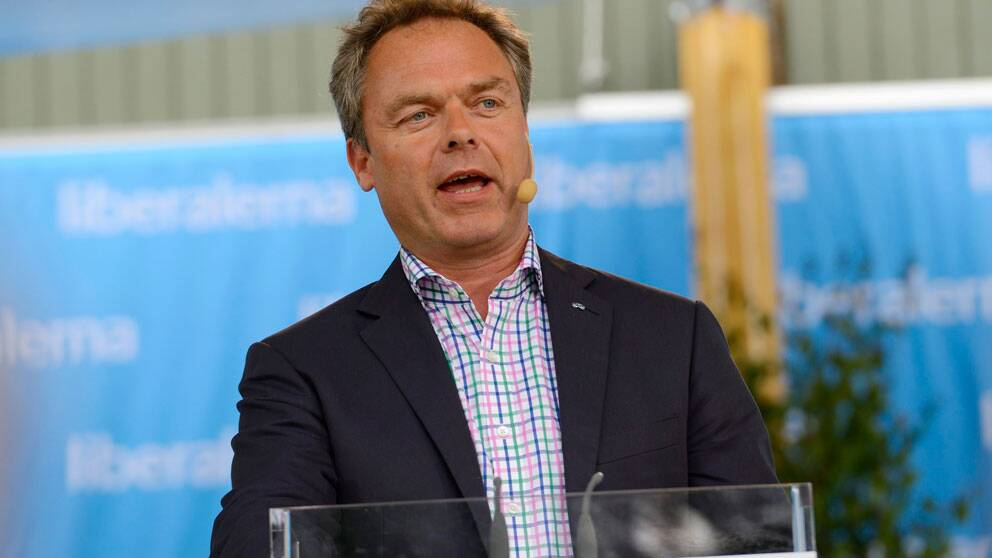 Folkpartiledaren Jan Björklund partiledartalar i Almedalen 2012. Foto: Scanpix