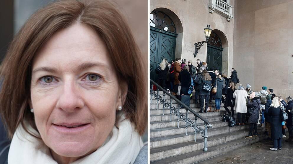 SVT Nyheters reporter Ylva Esping rapporterar live från Köpenhamns tingsrätt.