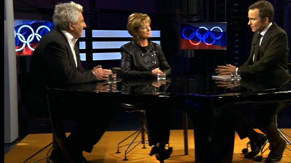 """SOK:s Stefan Lindeberg och idrottsminister Lena Adelsohn Liljeroth gästade SVT:s """"Agenda""""."""
