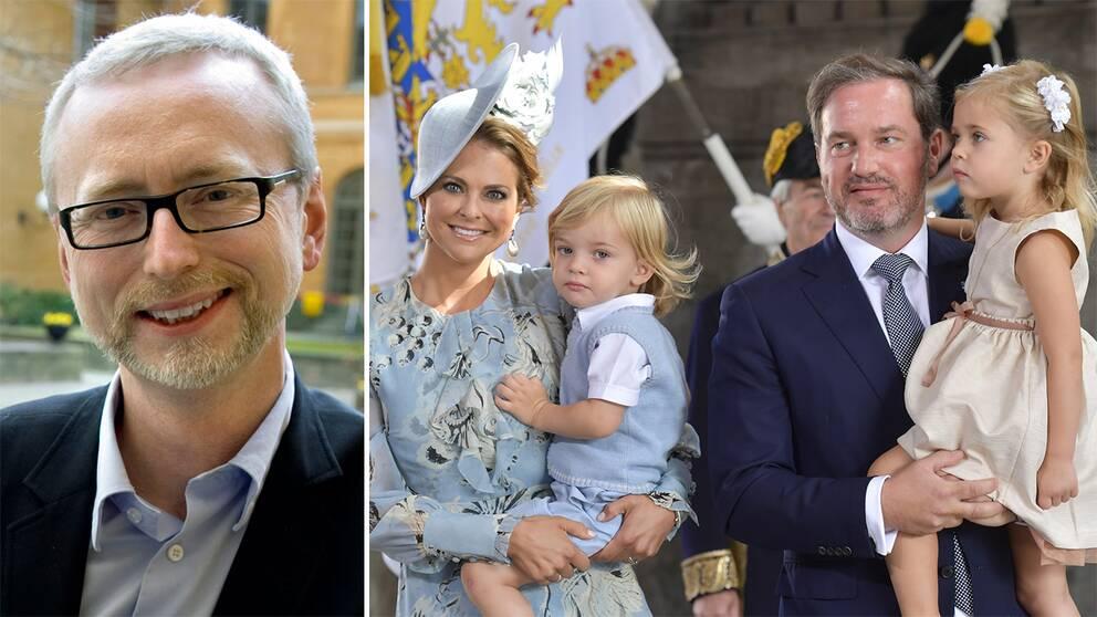 Dick Harrisson och prinsessfamiljen.