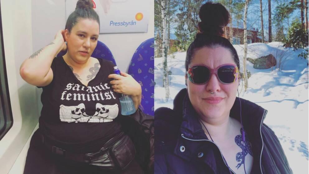 Bloggaren Lady Dahmer, eller NatashjaPsomasBlomberg, har kritiserats för att bidra till rasism och transfobi.