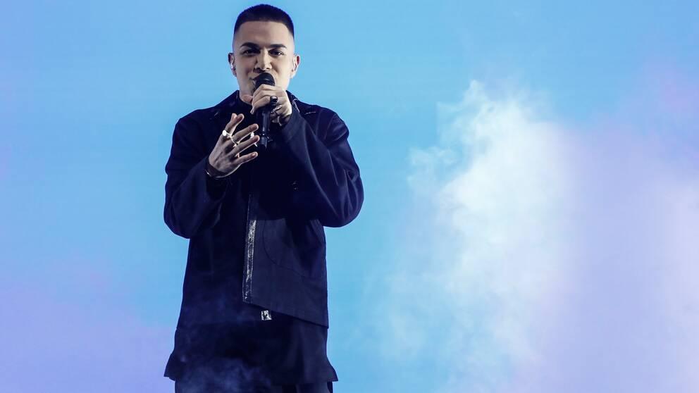 LIAMOO fick uppträda två gånger med sin låt under genrepet på grund av teknikstrul.