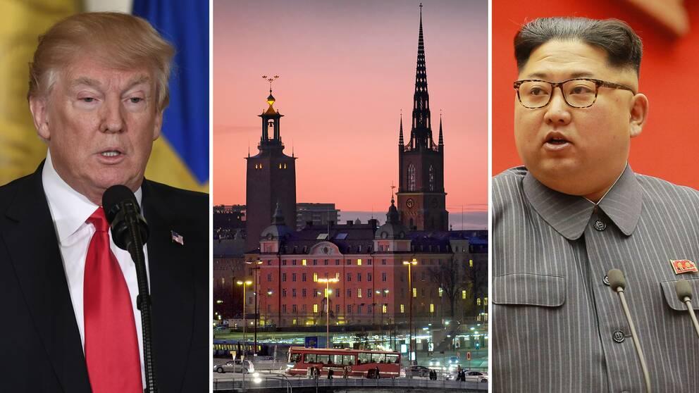 USA:s president Donald Trump och Nordkoreas diktator Kim Jong-Un.