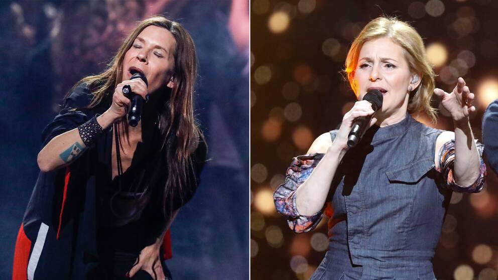 Caroline af Ugglas och Helen Sjöholm är mellanakter i finalen.