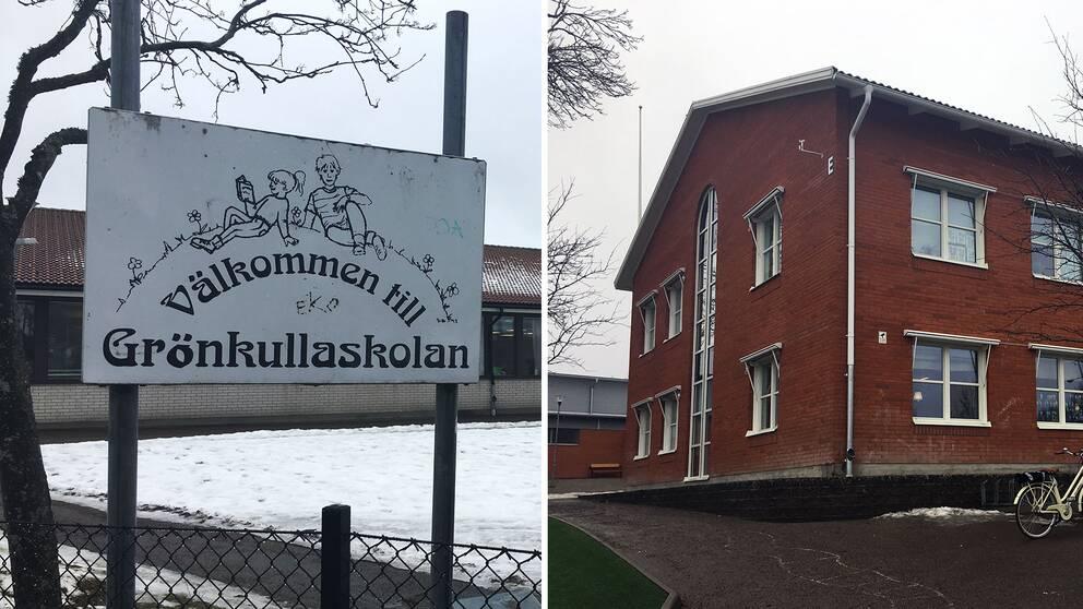 Grönkullaskolan och Prästängsskolan i Alvesta.