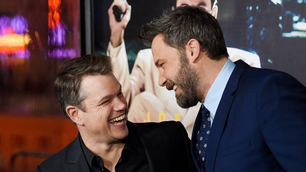 Skådespelarna och producenterna Matt Damon och Ben Affleck.