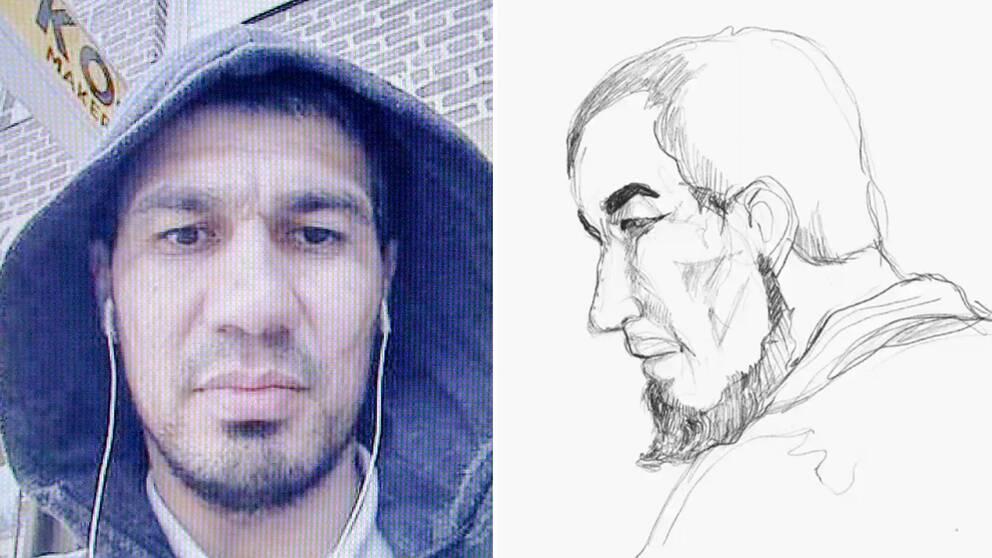 Terroråtalade Rakhmat Akilov.