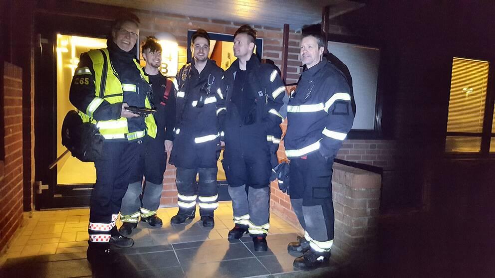 Brandmännen från stationen i Helsingborg gör hembesök lite då och då för att informera om brandsäkerhet.