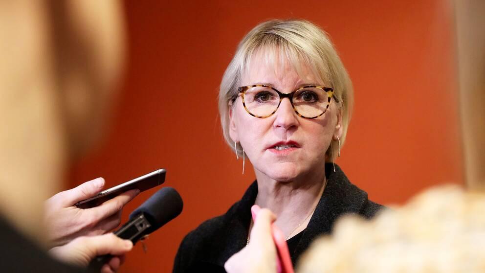 Utrikesminister Margot Wallström (S).