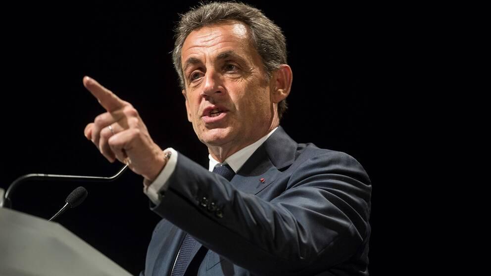 Nicolas Sarkozy från ett tal hösten 2016.