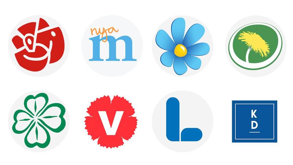 Innan valet frågade SVT:s Valkompassen partierna vad de tycker om 32 olika frågor, negativt eller positivt.