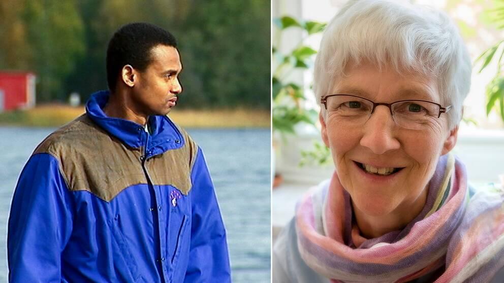 Montage: Omar och psykiatern Janet Schäbler