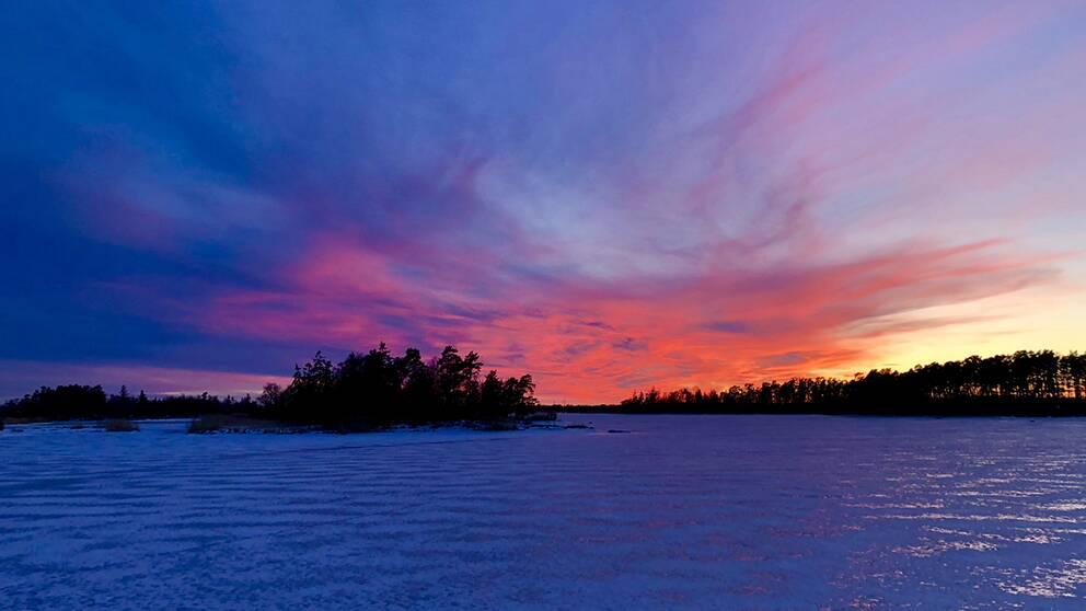 Solnedgång på Stensö i Kalmar
