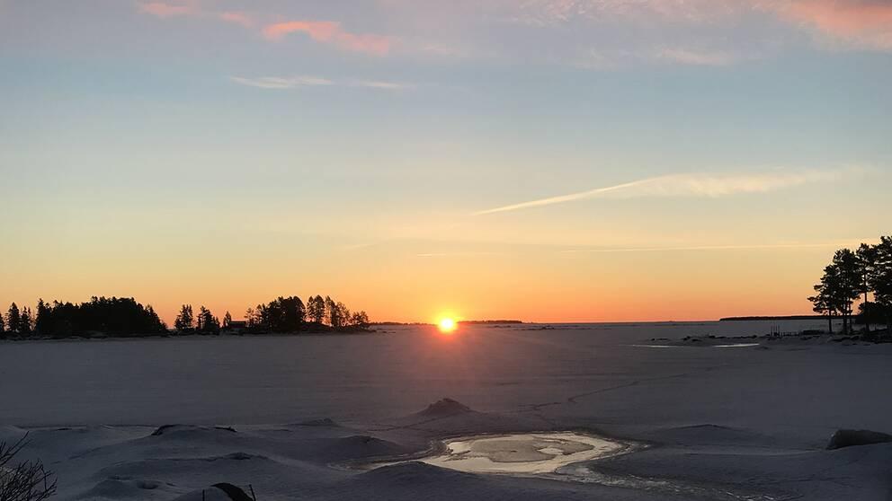 Soluppgång i Skärså.