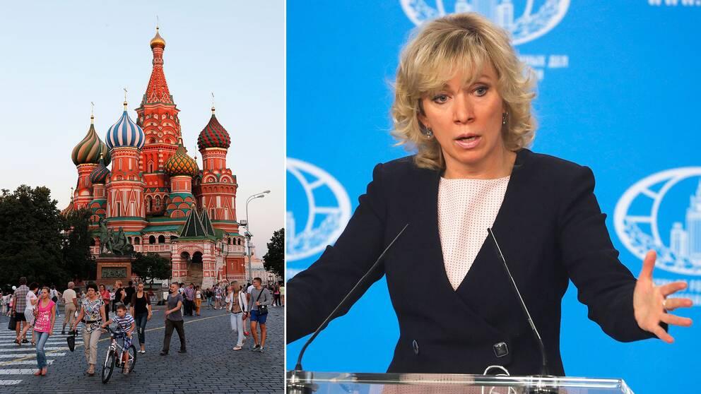 Ryska utrikesdepartementets talesperson Maria Zacharova.