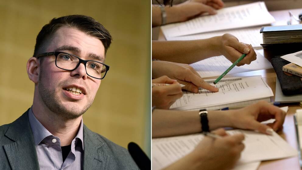 Anders Wallner, särskilde utredaren, presenterade utredningen för hållbart arbetsliv över tid under en pressträff i Rosenbad.