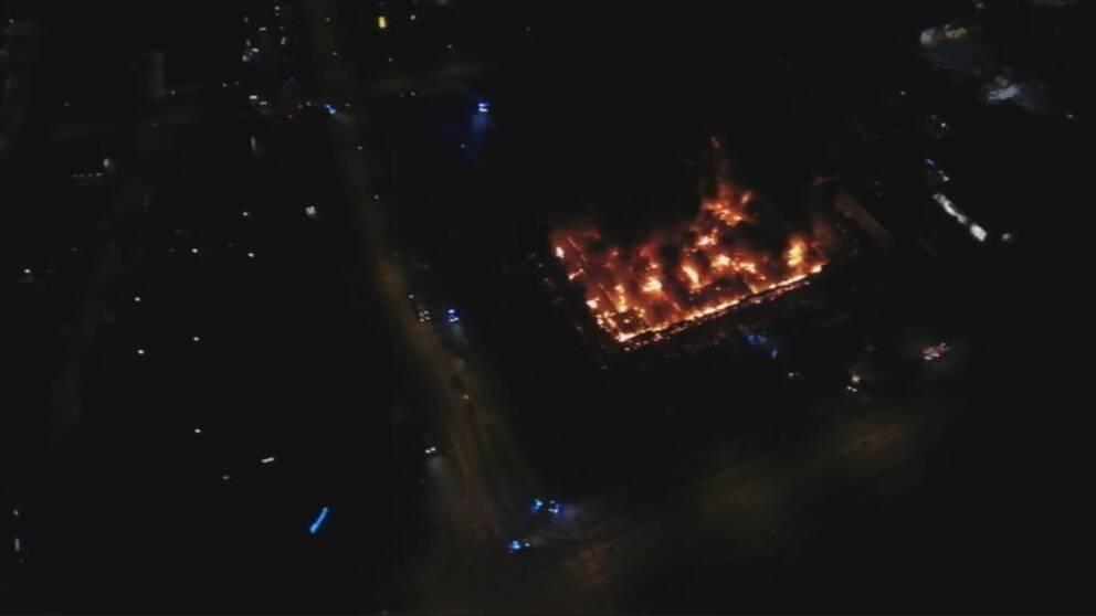 Drönarbilder branden kalmar