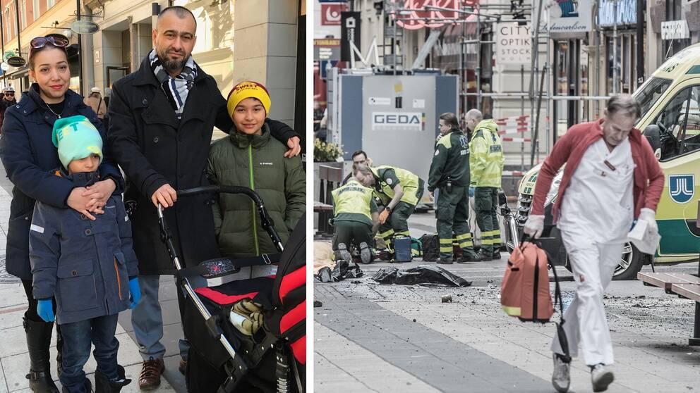Familjen Kuscu tillbaka på Drottninggatan