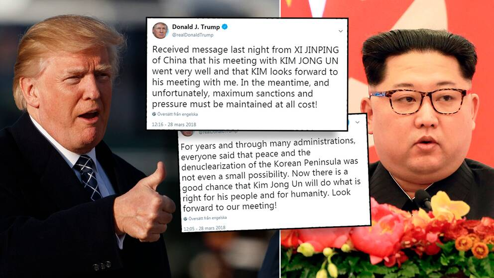 Donald Trump, Kim Jong-Un och Trumps tweets