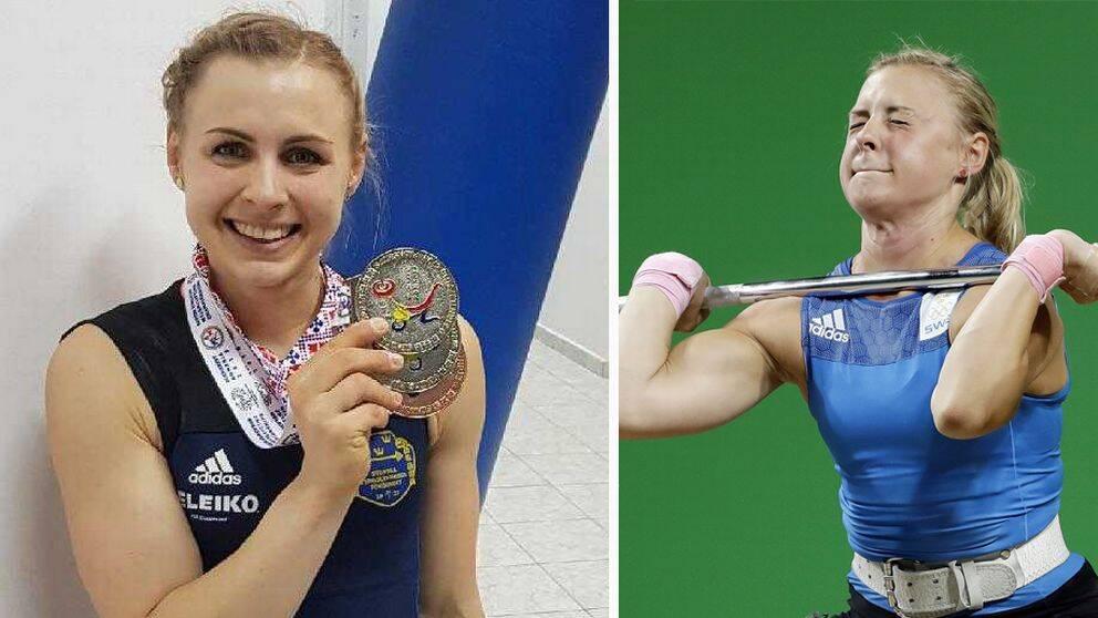 Trippla EM-medaljer i tyngdlyftning till Angelica Roos