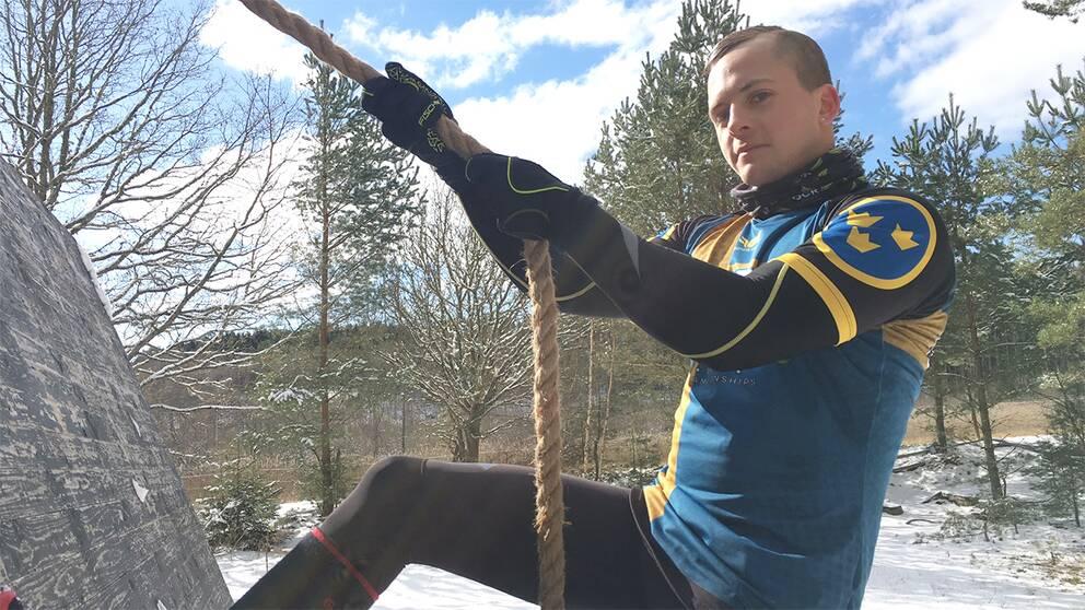 Oscar Olsson har tävlat i OCR under de senaste tre åren och för två månader sedan var han en av initiativtagarna till att starta föreningen Karlshamn OCR.