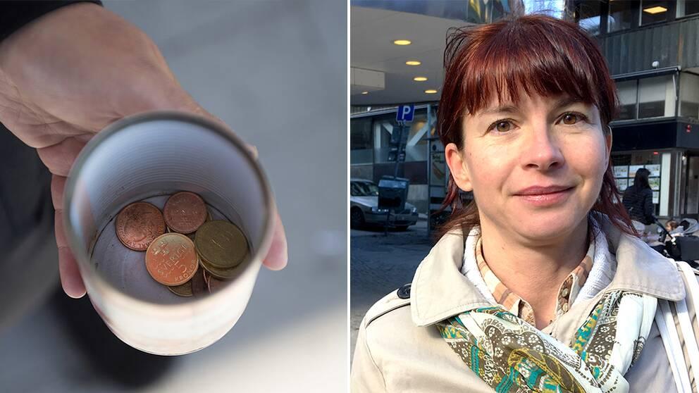 Beata Milewczyk (SD) vill införa tiggeriförbud i Södertälje.