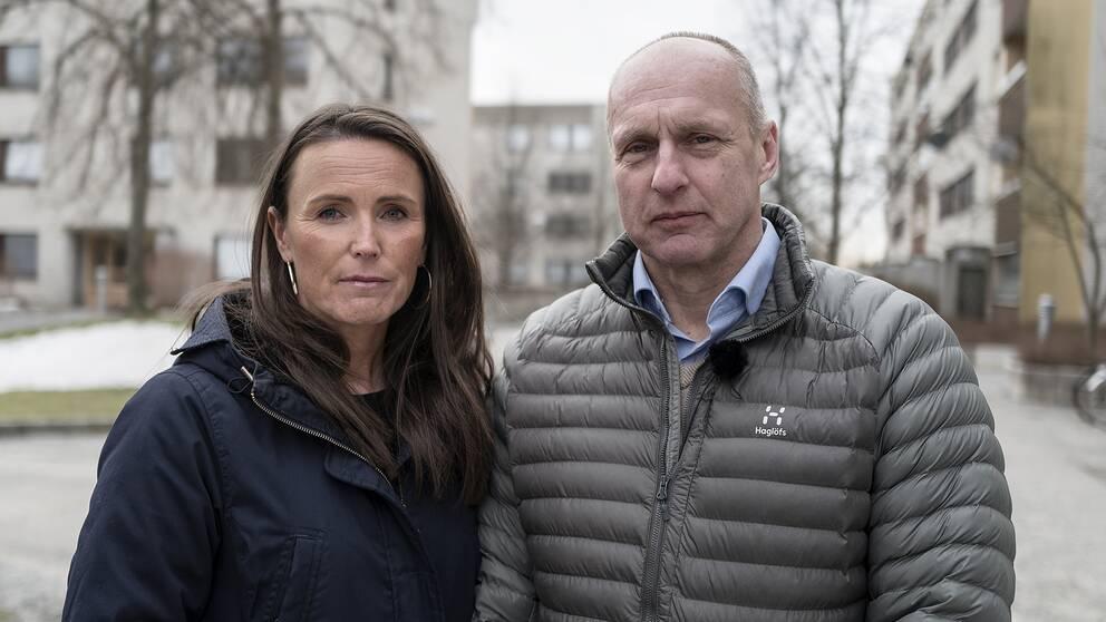 Linda Borgsved och Örjan Samuelsson arbetar som FLO-poliser.