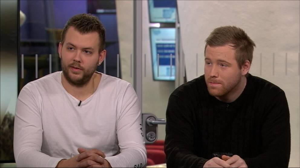 Bröderna Christian Karlsson och Robin Dahlén