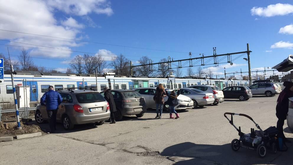 Parkeringen åter i bruk vid stationen Södertälje centrum