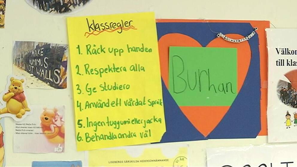 """En bild på ett hjärta med texten """"Burhan"""" i."""