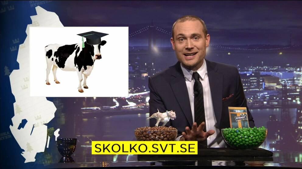 Ett inslag i SVT:s satirprogram Svenska nyheter har väckt kritik från friskolor.