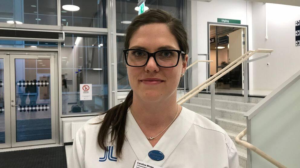 Carolina Winter, chefsjuksköterska på avdelning 23 på Södertälje sjukhus.