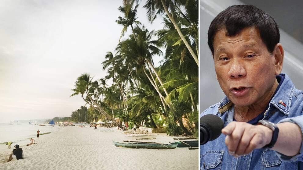 Filippinernas president Rodrigo Duterte riktade tidigare i år skarp kritik mot restaurang- och hotellägare på Boracay.