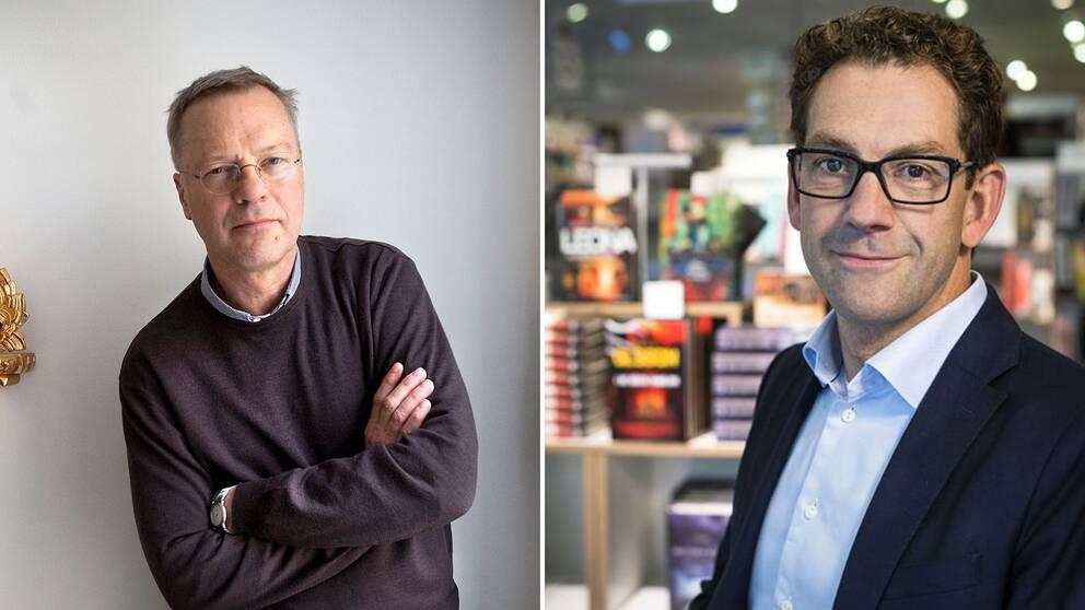 Svante Weyler, ordförande för SKMA och Harold Op het Veld, inköpschef för Bokus.