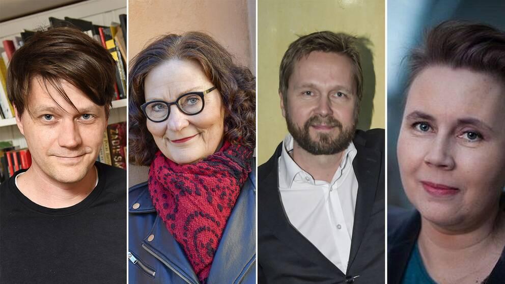 Daniel Sjölin, Ebba Witt-Brattström, Björn Wiman och Ulrika Milles.